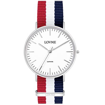 LOVME 城市簡約風手錶-白/41mm
