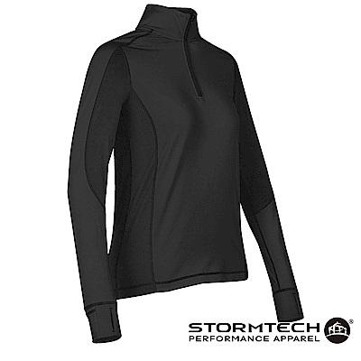 【加拿大STORMTECH】PL-4W女子慢跑者吸排快乾恆溫上衣-黑
