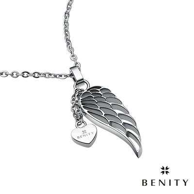 BENITY 片羽 316白鋼/西德鋼 羽毛設計 情侶款/女項鍊