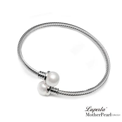 大東山珠寶 南洋貝寶珠金屬造型銀手鍊 腕際風尚