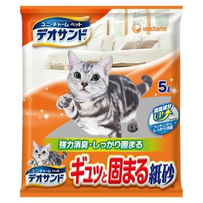 日本Unicharm消臭大師強力結團紙砂5L