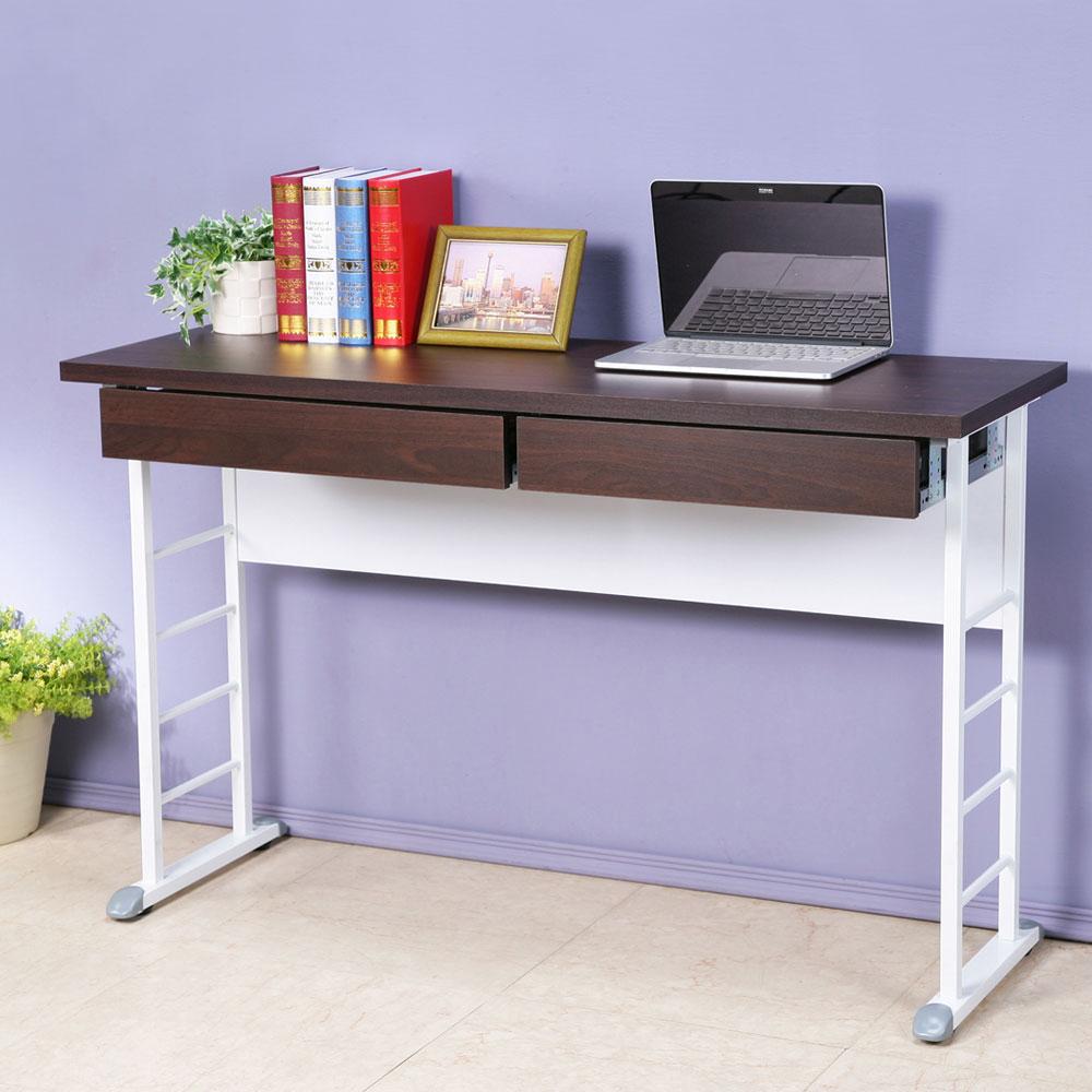 Homelike 查理120x40工作桌-加厚桌面(附二抽屜)