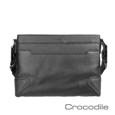 Crocodile Knight 系列 商務休閒 橫式斜背包(S)0104-670901