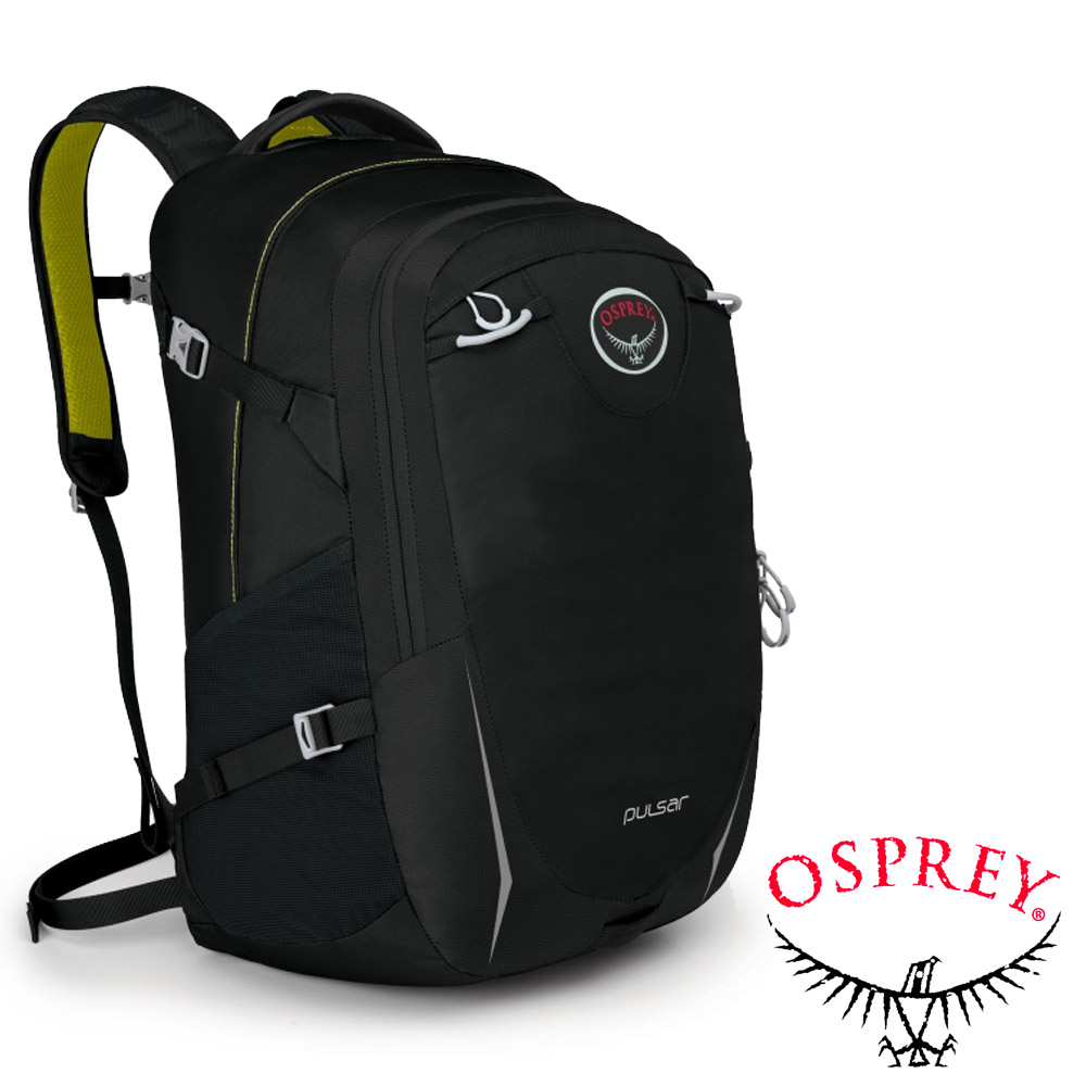 【OSPREY】New Pulsar 30L 超輕多功能城市休閒筆電背包_時尚黑