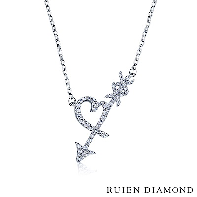 RUIEN DIAMOND 輕珠寶系列13分 14K白金鑽石項鍊