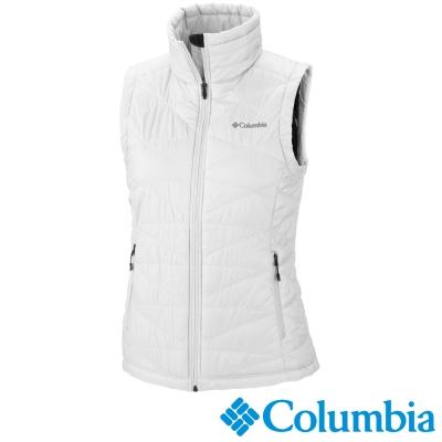 【Columbia哥倫比亞】女-保暖背心-白 UWL14710WT
