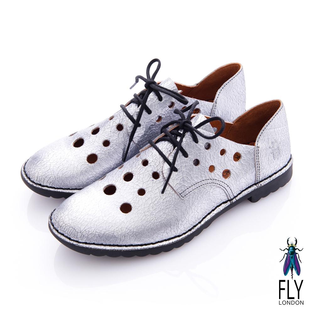 Fly London(女) 小宇宙 隕石洞洞牛津皮鞋 - 世界銀
