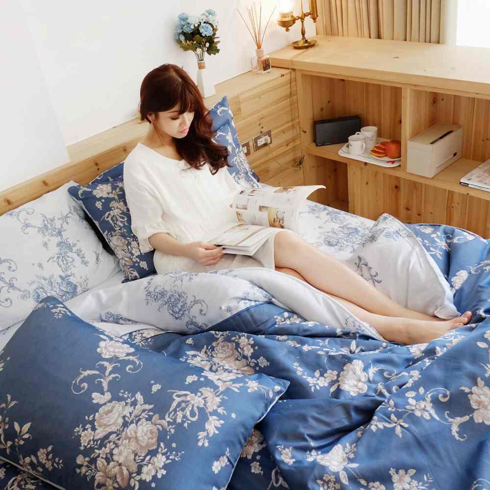 BARNITE浪漫紛飛 舒爽天絲兩用被床包組-雙人