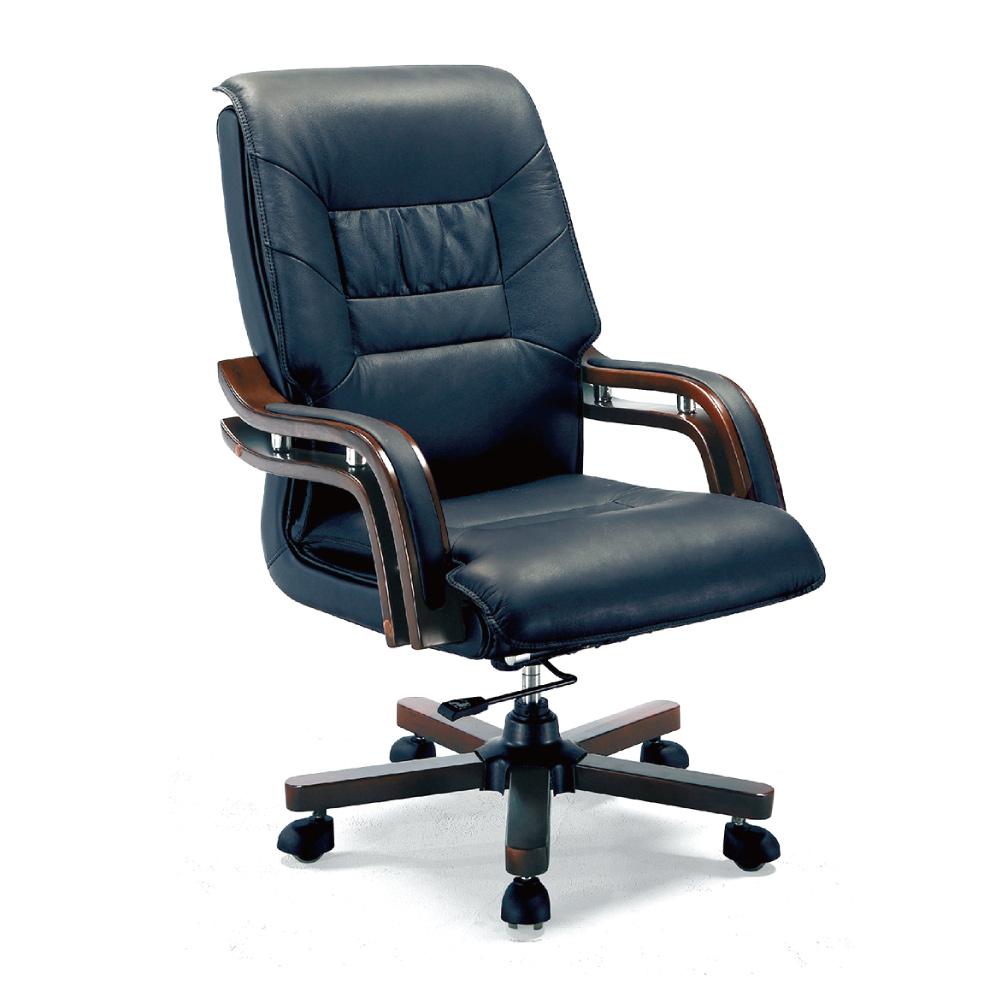 GD綠設家 路布半牛皮革多功能主管椅/辦公椅-65x54x112cm免組