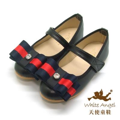 天使童鞋 JU776 英式凱特公主鞋-優雅黑