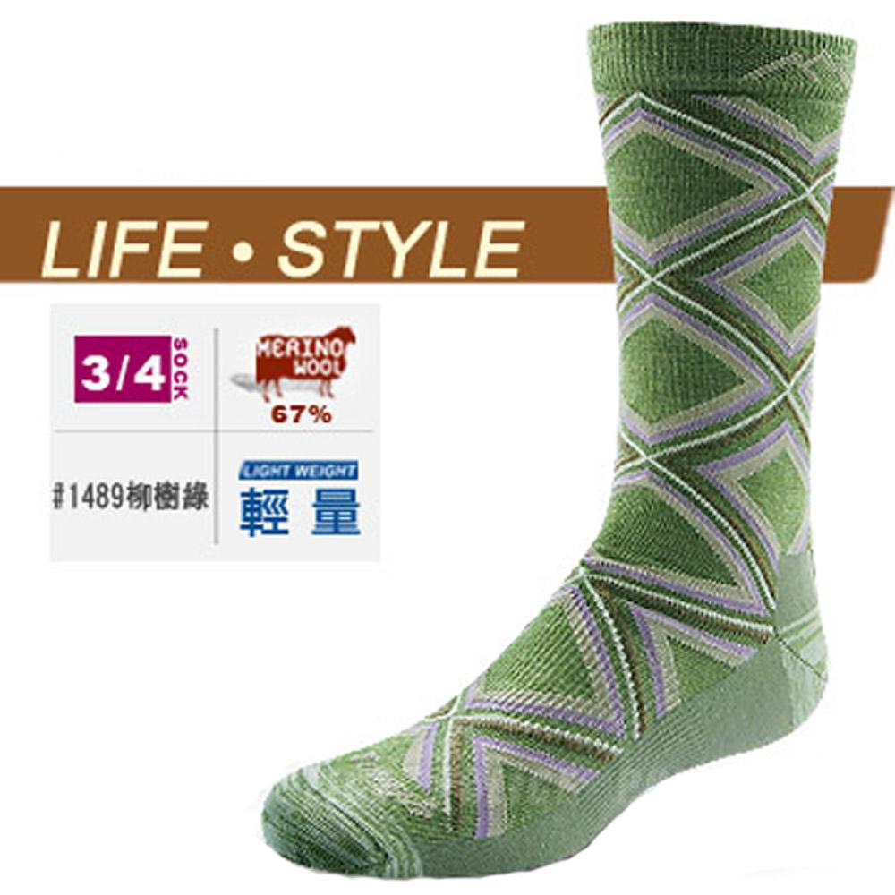 【DARN TOUGH 】VERMONT 美麗諾羊毛襪(2入)_柳樹綠
