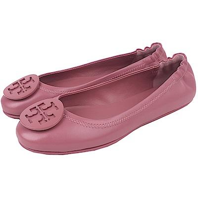 TORY BURCH 經典LOGO鬆緊平底娃娃鞋(玫瑰粉)