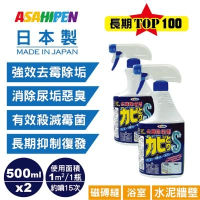 磁磚縫/浴室/水泥牆壁用去霉除垢劑  500 ml* 2 入