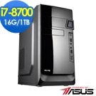 華碩B360平台[赤雷戰神]i7六核效能電腦