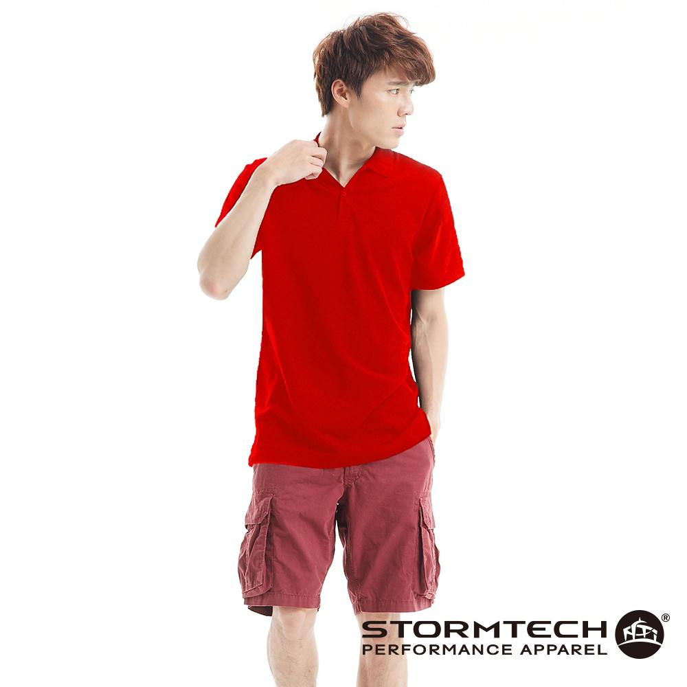 【加拿大STORMTECH】MCP-1純棉網眼極舒適抗UV POLO衫-男(紅)