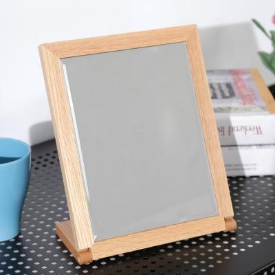 BuyJM典雅原木色實木長型桌上鏡-免組