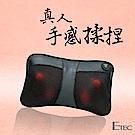 ETEC 肩頸手感揉捏溫熱按摩枕 黑色 CM-1899