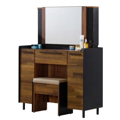 AT HOME-畢卡索3尺雙色鏡台(含椅)