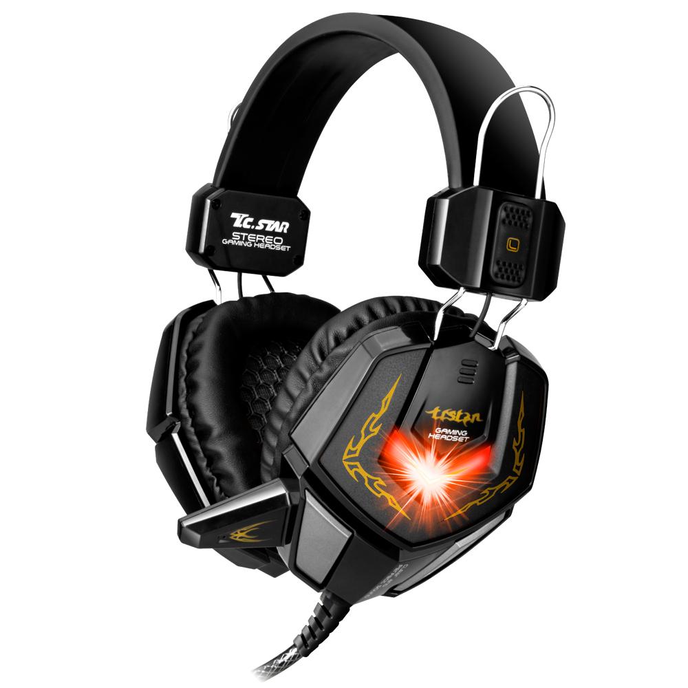 TCSTAR 暗黑武士炫光電競頭戴式耳機麥克風TCE9200