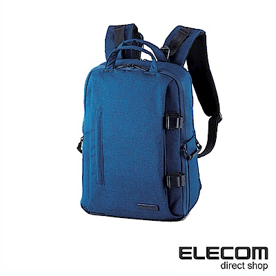 ELECOM 帆布多功能質感後背包(M)S038-藍