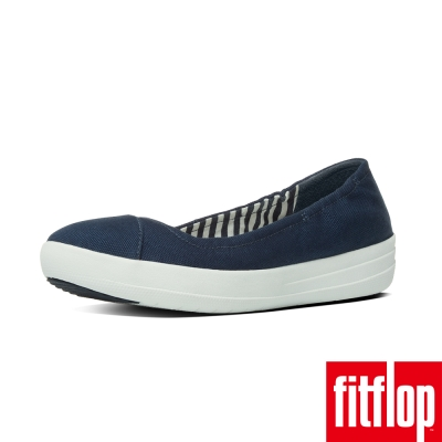 FitFlop TM-F-SPORTY TM BALLERINA  CANVAS-藍