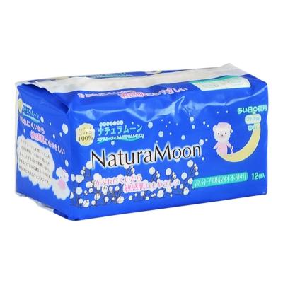 日本Naturamoon 天然棉衛生棉量多夜用29cm-12枚(HK-NM1219) -快