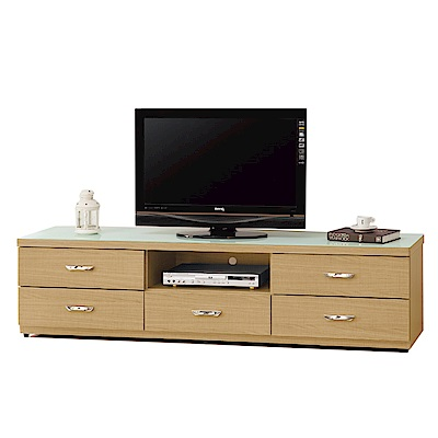 品家居 賽薇亞5.9尺雙色玻璃長櫃/電視櫃-176.1x40.2x45.8cm免組