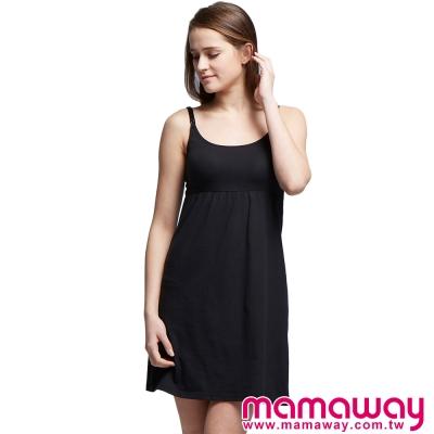 孕婦裝-哺乳衣-孕哺內衣-Bra-Top-棉感洋裝
