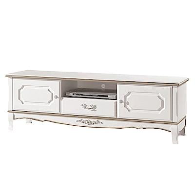 品家居 聖卡達5.1尺二門單抽長櫃/電視櫃-151.5x40x51cm免組