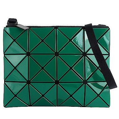 ISSEY MIYAKE 三宅一生BAOBAO雙色軟質方格3x4小型斜背包(綠/青綠)