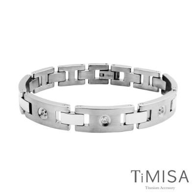 TiMISA 《美麗境界-寬版》純鈦鍺手鍊