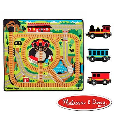 美國瑪莉莎Melissa Doug交通遊戲可愛火車環繞鐵路地墊組