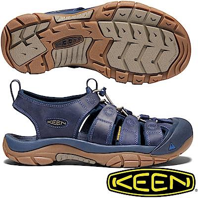 KEEN KEEN 1018790深藍 NewPort 男戶外護趾涼鞋
