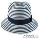 A-Surpriz 都會休閒條紋風遮陽帽(藍