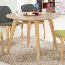 Bernice-勞倫絲3.6尺圓型洽談桌/餐桌-107x107x75cm