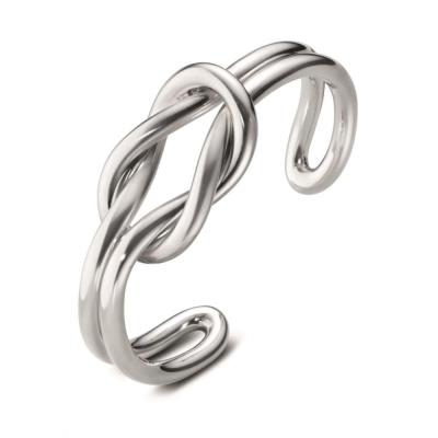 GEORG JENSEN-LOVE KNOT雙結純銀手環 #627