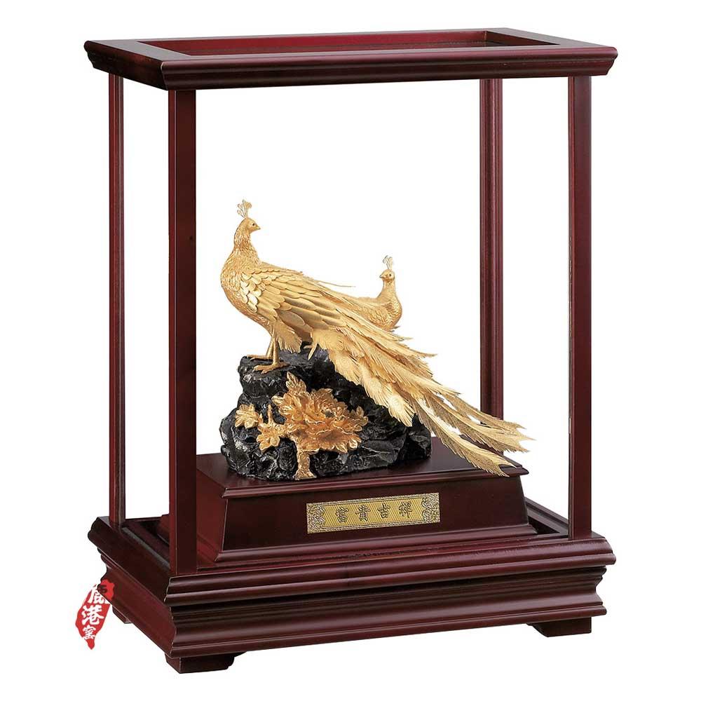 鹿港窯-立體金箔畫-富貴吉祥(櫥窗系列29x17cm)