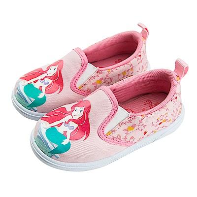迪士尼童鞋 小美人魚 Q版愛麗兒公主 休閒鞋 便鞋-粉
