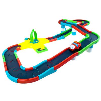 Mega Circuit DIY組裝益智立體電動軌道組 附1台小車