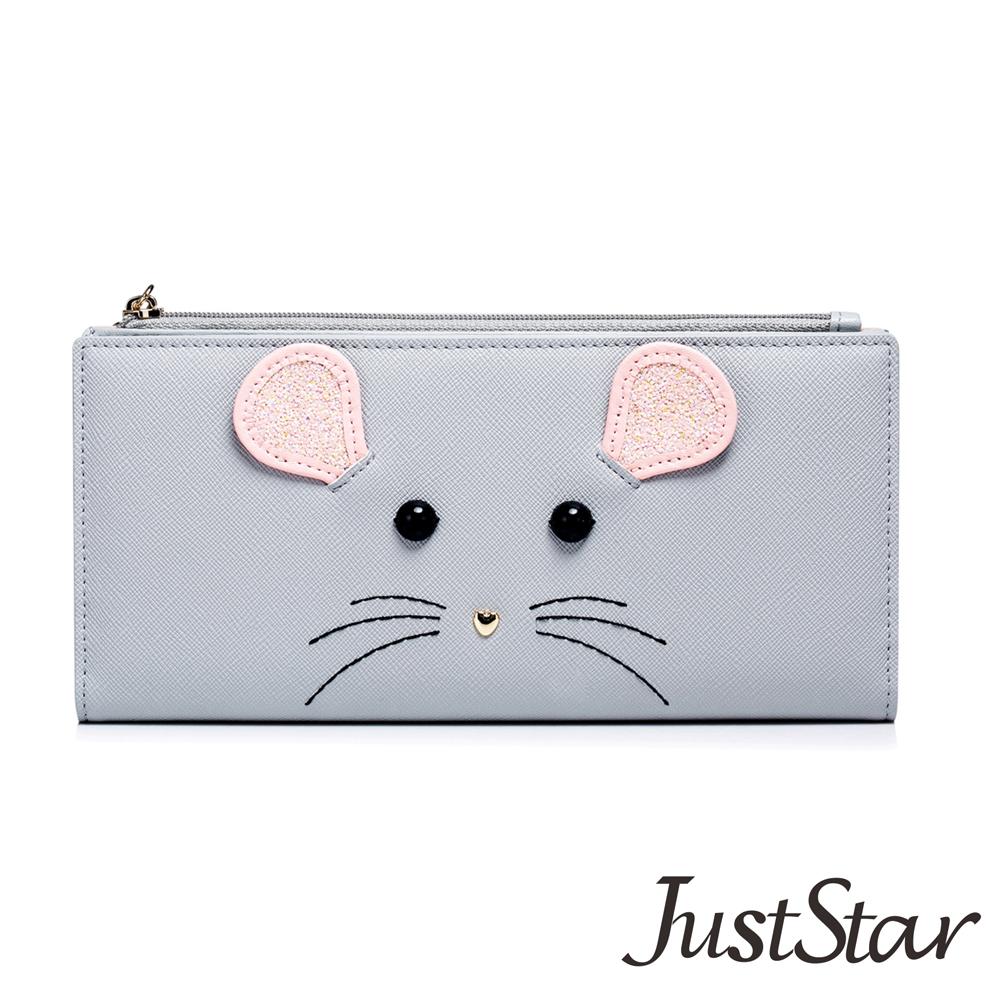 Just Star 可愛精靈米老鼠長夾 煙霧灰