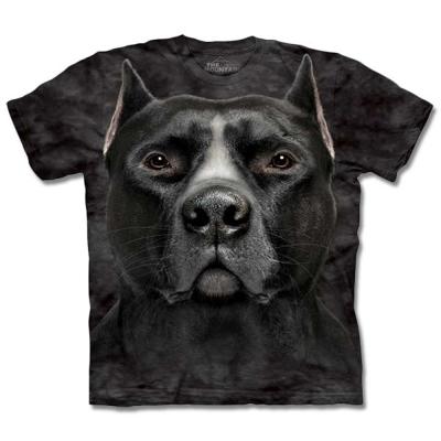 摩達客 美國進口The Mountain 黑色鬥牛犬  純棉環保短袖T恤