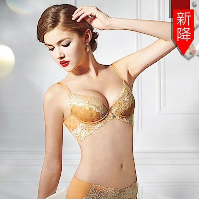 曼黛瑪璉-15SS-V極線內衣  B-E罩杯(杏蜜橘)