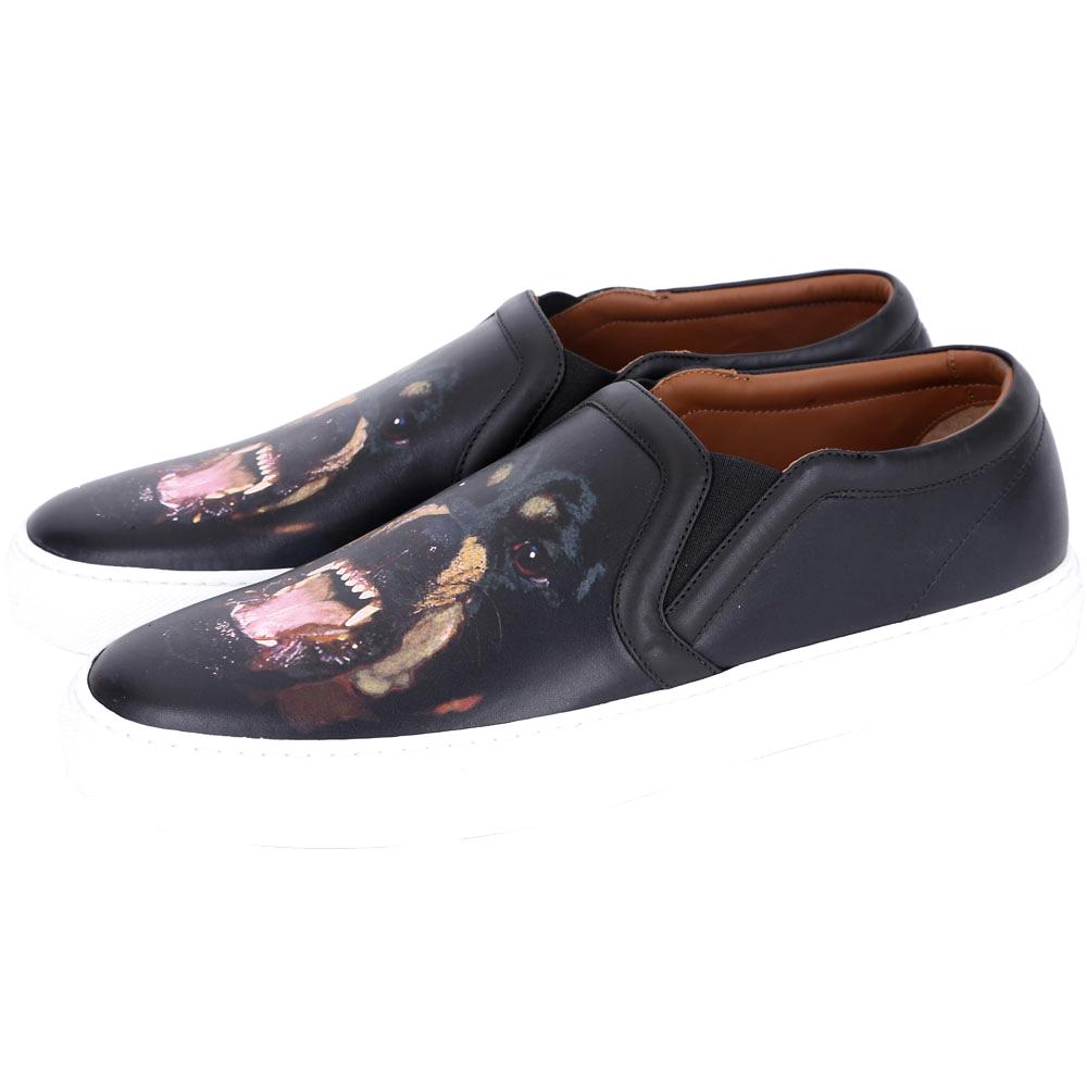 GIVENCHY 羅威納犬印花休閒便鞋(黑色)