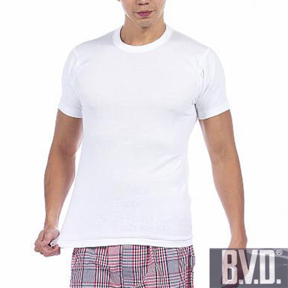 BVD 5件組時尚舒適型男純棉圓領羅紋短袖內衣