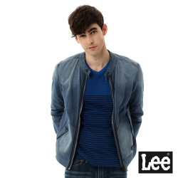 Lee 牛仔外套 3D平織立領 -男款-麻花藍