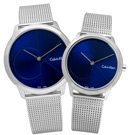 CK 真愛時刻經典簡約米蘭編織不鏽鋼手錶 - 深藍色/40+35mm