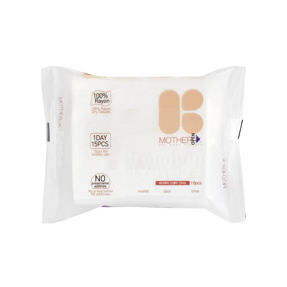 韓國MOTHER-K頂級乾式濕紙巾-人造絲(15抽)