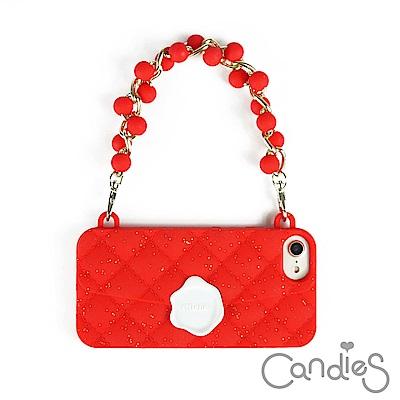 Candies 珠鍊經典晚宴包(紅)iPhone 7/ iPhone 8