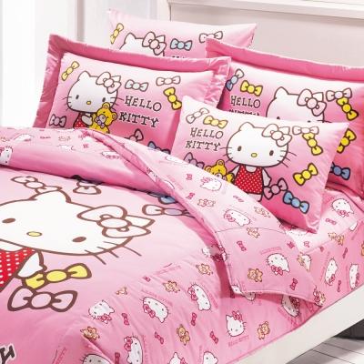 鴻宇 美國棉 抗菌 Hello Kitty 哈尼小熊-單人薄被套