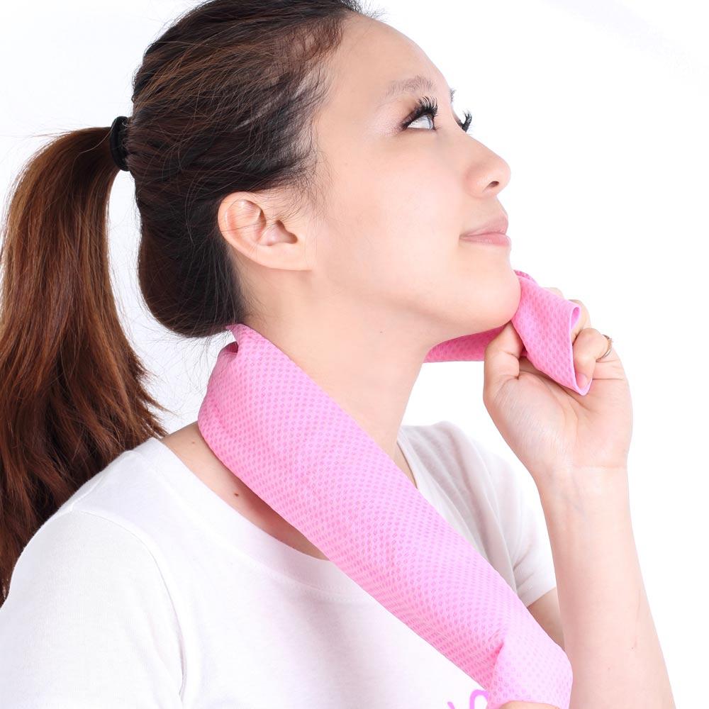 Clover 瞬間涼感多用途冰涼巾(領巾)-蜜桃粉